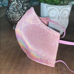 Other - Iridescent Rose Gold stretchy Face Mask